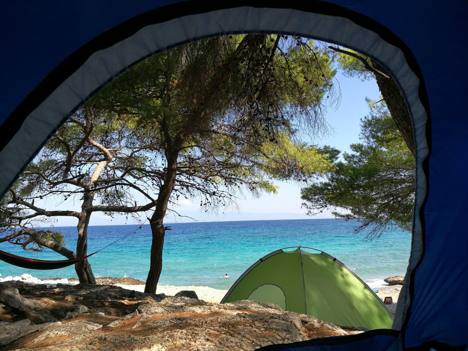 kampovanje grčka ostrvo agistri