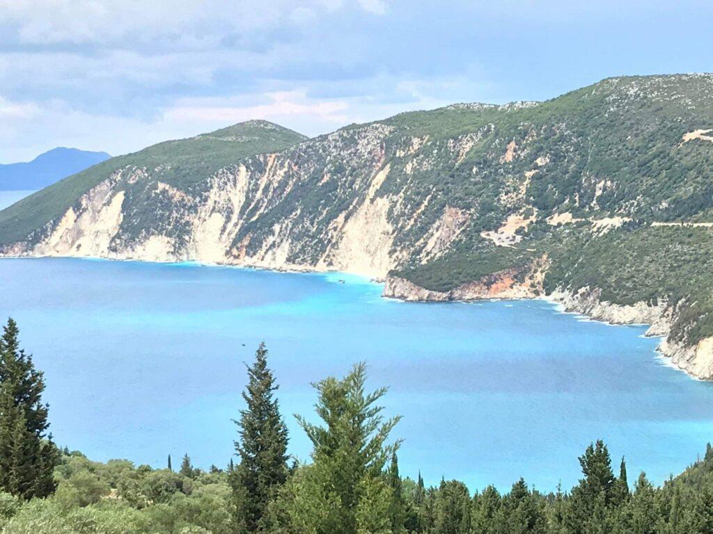 Pogled sa Odisejevog dvorca ostrvo Itaka